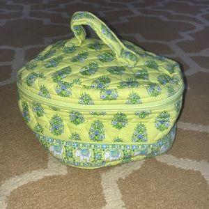 Vera Bradley Green and Blue Elephant Makeup Bag